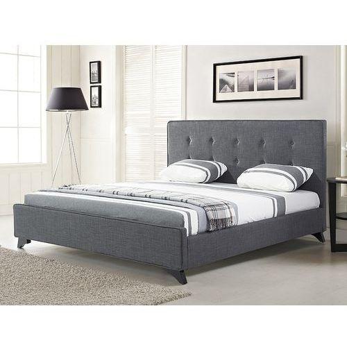 Nowoczesne łóżko tapicerowane ze stelażem 180x200 cm szare AMBASSADOR