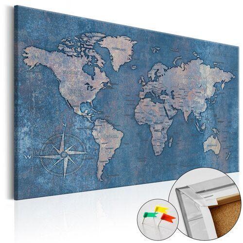 Artgeist Obraz na korku - szafirowa planeta [mapa korkowa]
