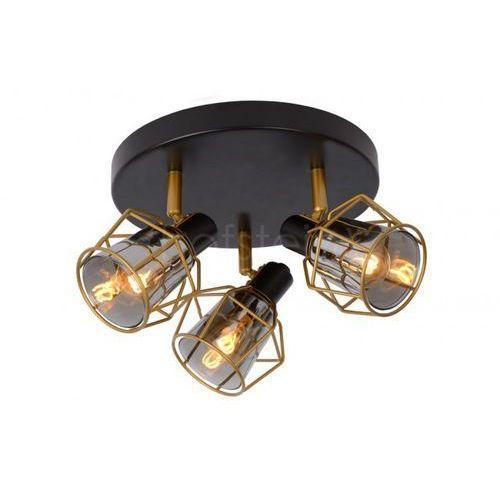 Lucide Nila 77977/13/30 Plafon lampa sufitowa 3x25W E14 Czarny/Szary, 77977/13/30