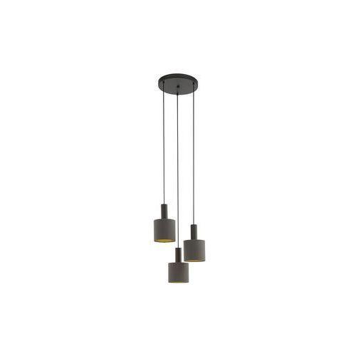 Eglo 97684 - Żyrandol na lince CONCESSA 1 3xE27/60W/230V, kolor Brązowy