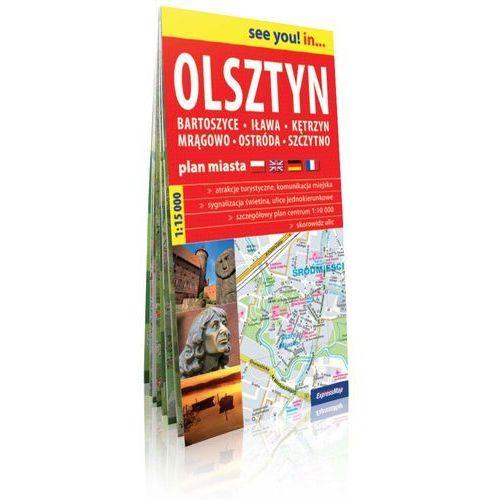 Olsztyn, Bartoszyce, Iława, Kętrzyn, Mrągowo, Ostróda, Szczytno. Mapa / Plan miasta. ExpressMap