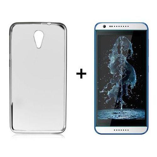 Zestaw obudowa ultra slim dymiona + szkło ochronne perfect glass htc desire 620 / 820 mini marki Ultra slim / perfect glass