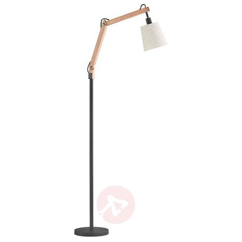 Trio janko lampa stojąca czarny, brązowy, 1-punktowy - vintage - obszar wewnętrzny - janko - czas dostawy: od 4-8 dni roboczych