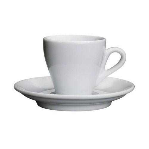 Cilio Porcelanowa filiżanka do espresso ze spodkiem, 50 ml, biała