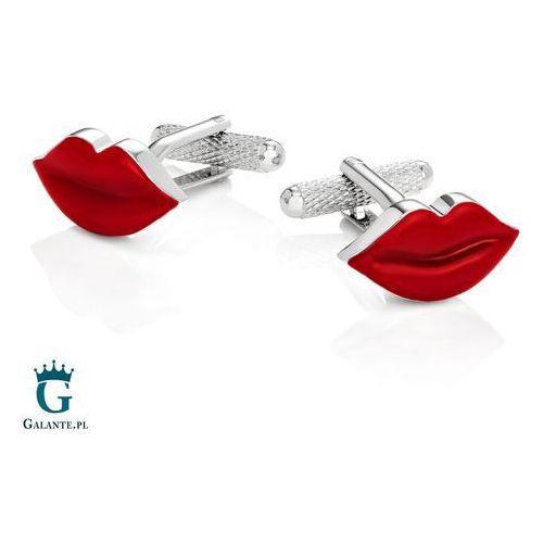Onyx-art Spinki do mankietów czerwone usta kc-189 london