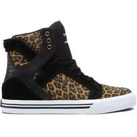 buty SUPRA - Kids-Skytop High Black/Cheetah-White (BCT) rozmiar: 22