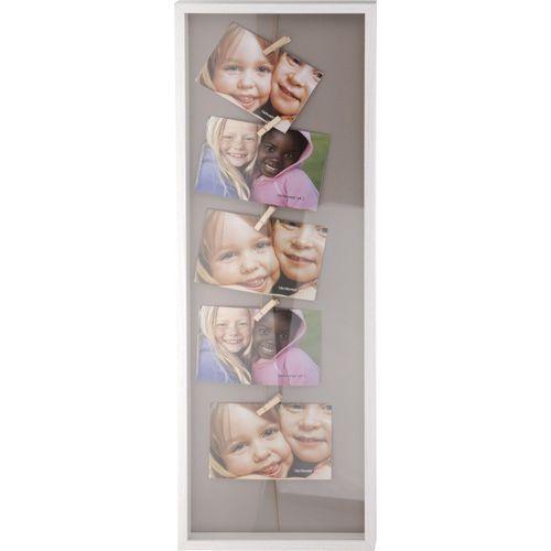 Drewniana ramka do zdjęć, minigaleria na 5 zdjęć