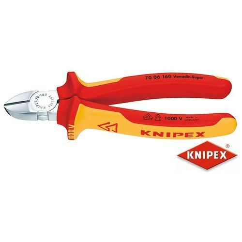 Knipex obcinaczki boczne 125mm, dwukomponentowe, izolowane vde (70 06 125) (4003773018124)