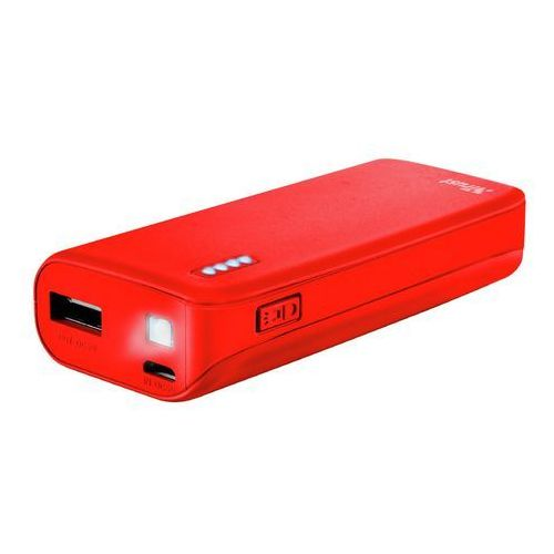powerbank 4400 primo czerwony matowy marki Trust
