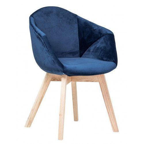 Krzesło Albert Velvet niebieski