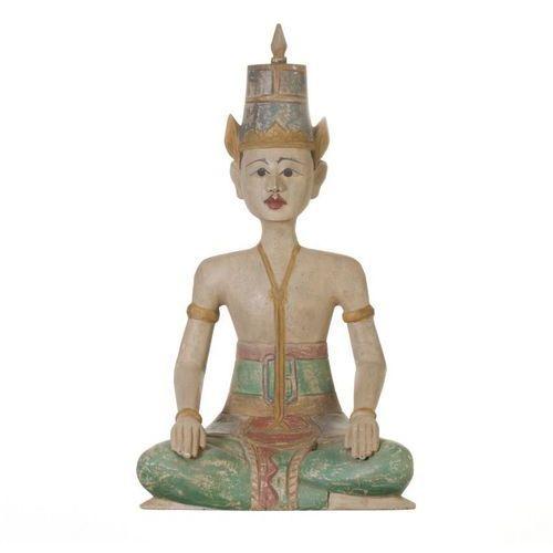figura muna postać siedzącego mężczyny 35x45x61cm -30%, 35×45×10cm marki Dekoria