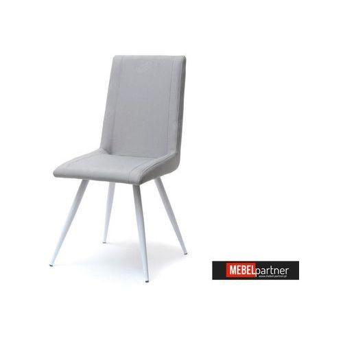 DESIGNERSKIE KRZESŁO TAPICEROWANE NARVIK SZARE - produkt z kategorii- Krzesła