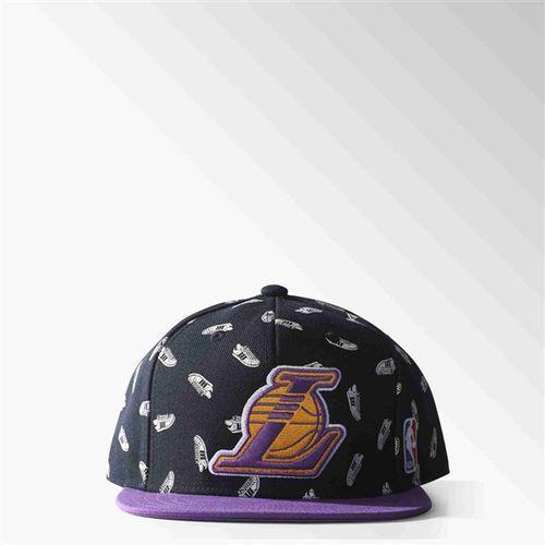 czapka z daszkiem ADIDAS - Nba Sbc Lakers Black/Pant (BLACK PANT), kolor czarny