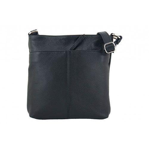 Listonoszki - torby damskie ze skóry naturalnej - Czarny, kolor czarny
