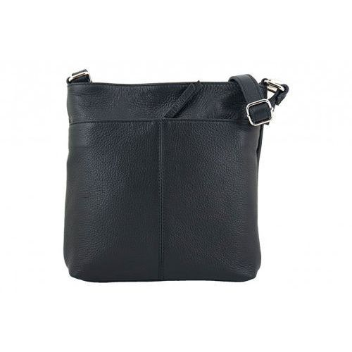 Listonoszki - torby damskie ze skóry naturalnej - czarny marki Barberini's