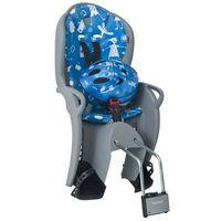 Fotelik rowerowy Hamax KISS szaro-niebieski + kask