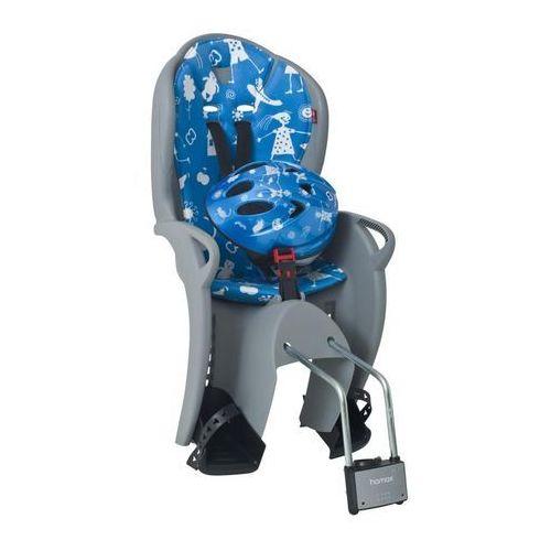 Hamax Fotelik rowerowy kiss szaro-niebieski + kask