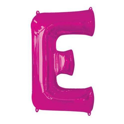 Amscan Balon foliowy różowa litera e - 53 x 81 cm - 1 szt.