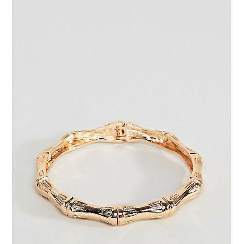 Asos design curve bangle bracelet with chunky textured vintage detail in gold - gold marki Asos curve