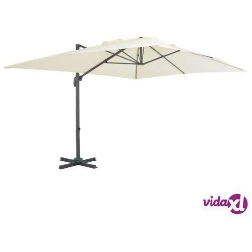 parasol wiszący z aluminiowym słupkiem, 400x300 cm, piaskowy marki Vidaxl