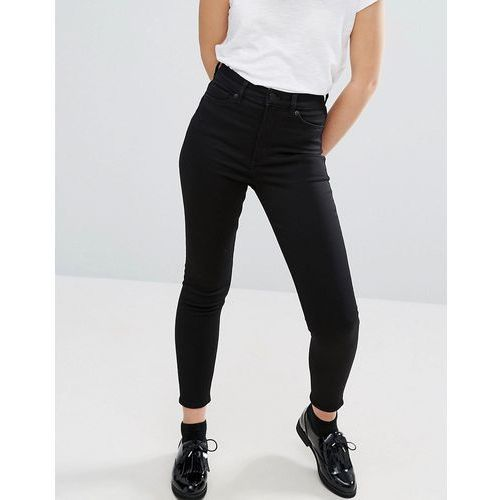 Monki Oki Cropped Skinny High Waisted Jeans - Black, jeans