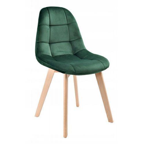 Krzeslaihokery Krzesło westa velvet aksamit butelkowa zieleń