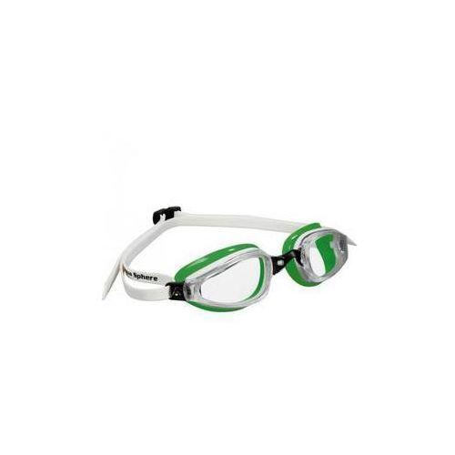 Męskie okulary pływackie k180 clear białe/zielone marki Michael phelps aqua sphere
