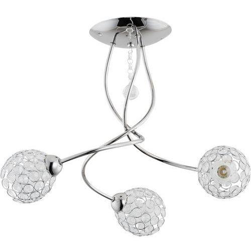 Lampa wisząca Alfa Vaio 20363 zwis żyrandol 3x40W E14 chrom, kryształ (5900458203631)