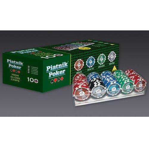 Piatnik, zestaw pokerowy, Propoker 100 żetonów (9001890790591)