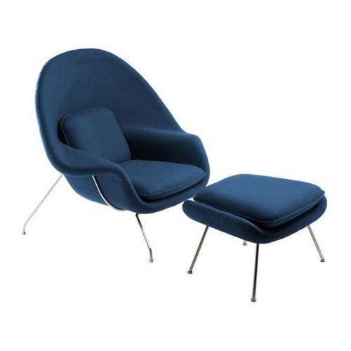 Fotel Snug z podnóżkiem (niebieski) D2