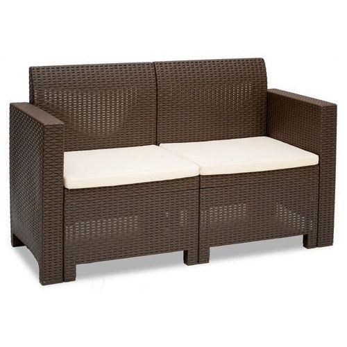 Dwuosobowa sofa technorattanowa Nebraska 2 brązowa