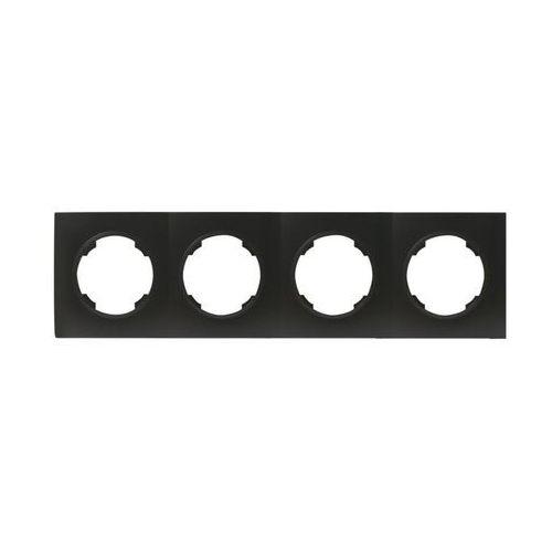 Efapel Ramka poczwórna soul czarny dmp solid (5903332580989)