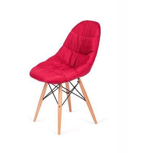 King home Krzesło nowoczesne rugo czerwone tkanina (5900000019352)
