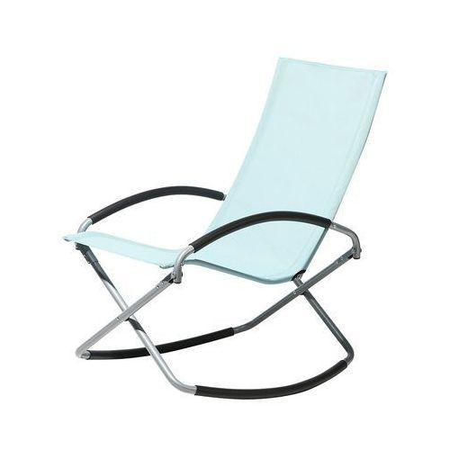 Beliani Krzesło ogrodowe miętowe tekstylne składane casto
