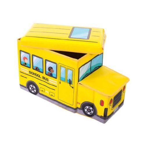 Bieco  skrzynia na zabawki i ławka do siedzenia autobus szkolny (4005544001861)