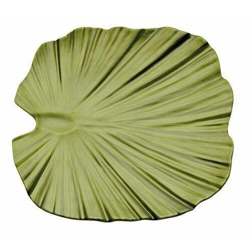 Półmisek z melaminy w kształcie liścia palmy   zielony   różne wymiary