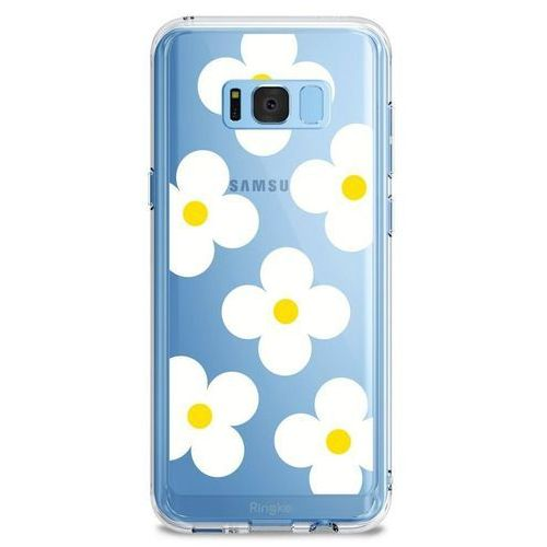Ringke Etui fusion design samsung galaxy s8 plus white daisies (8809550340305)