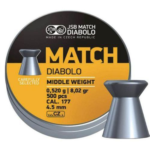 Jsb Śrut  match diabolo middle weight 4.5mm 500szt (000015-500) (2010000012444)