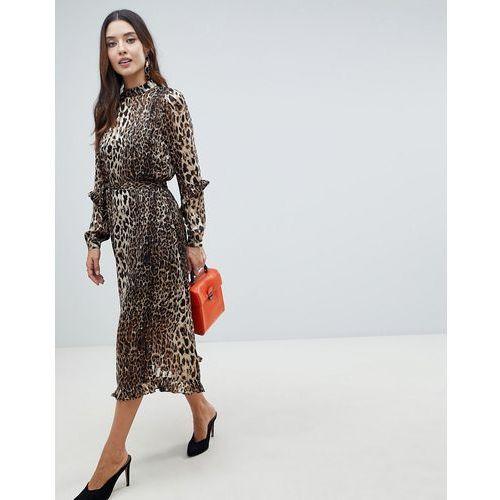 Y.A.S Animal Print Highneck Maxi Dress - Multi