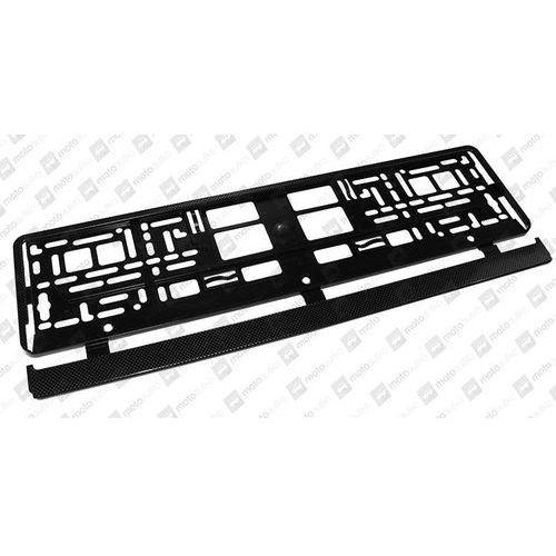Ramka do mocowania tablicy rejestracyjnej carbon + dostawa 24h // odbiór osobisty ul. grochowska 172, ul. modlińska 237 // marki Carcommerce
