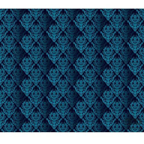 Fototapeta tradycyjne kwiatowe wzory – błękitne na czarnym tle 1461 marki Consalnet