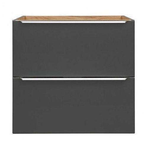 Podwieszana szafka łazienkowa pod umywalkę - Malta 3X Czarny mat 80 cm, kolor czarny