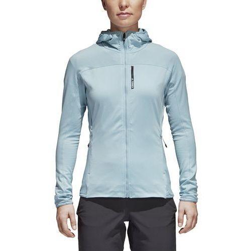 Bluza z kapturem z polaru adidas CF9864, kolor zielony