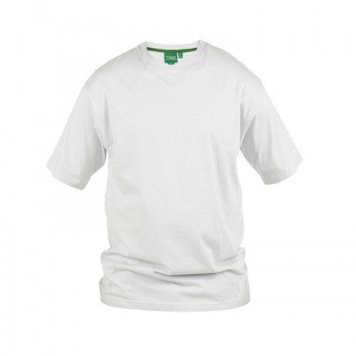 Signature-d555 t-shirt męski biały duże rozmiary marki Duke