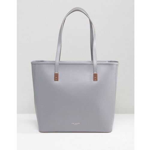 Ted Baker Chelsey Large Leather Shopper bag with pouch - Grey