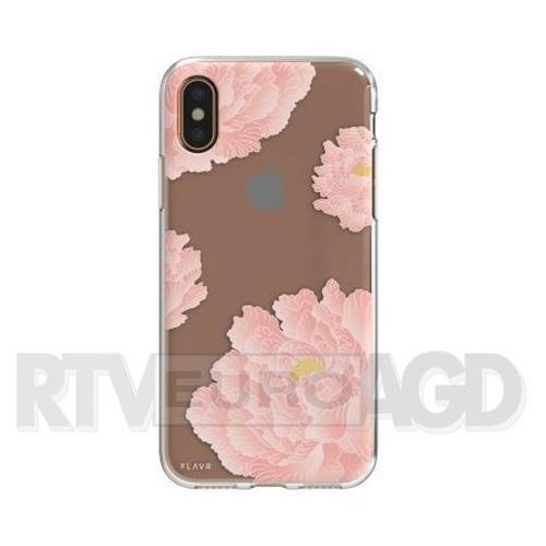 Etui FLAVR iPlate Pink Peonies do Apple iPhone X Wielokolorowy (30037), 30037