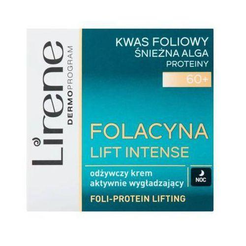 50ml 60+ folacyna lift intense odżywczy krem aktywnie wygładzający na noc marki Lirene