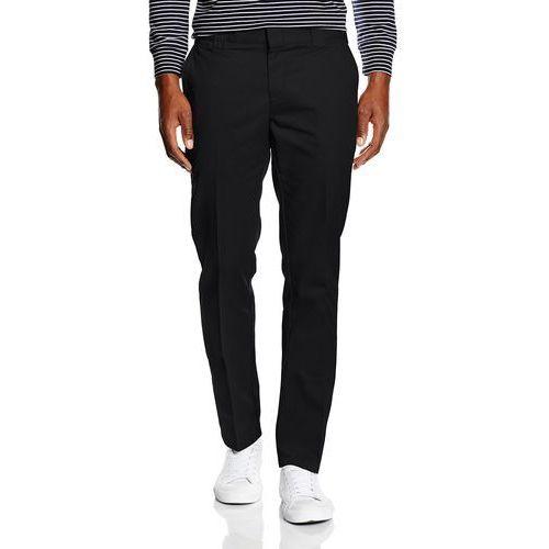 Dickies spodnie męskie Slim Fit Work Pant - w stylu chino W32/L34 czarny, kolor czarny