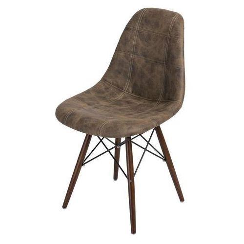 Krzesło p016w pico brązowe c dark marki Dkwadrat
