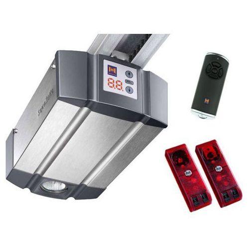 ZESTAW: napęd SupraMatic P seria 3 BiSecur (siła 1000 N, do 15 m2) + szyna K + pilot HS 5 BS + fotokomórki EL 101